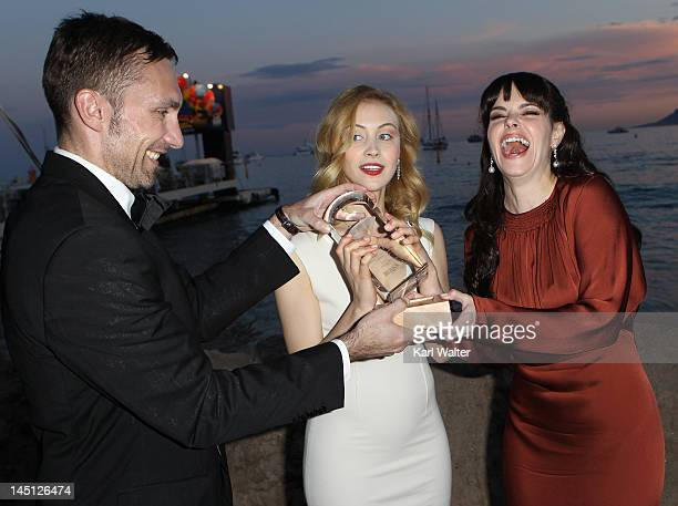 Actresses Sarah Gadon and Emily Hampshire attend Telefilm Canada's Tribute To Canadian Talent Presents The Birks Canadian Diamond Prize during the...