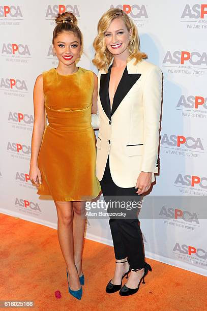 Actresses Sarah Hyland and Beth Behrs attend ASPCA Benefit event at Private Residence on October 20 2016 in Los Angeles California