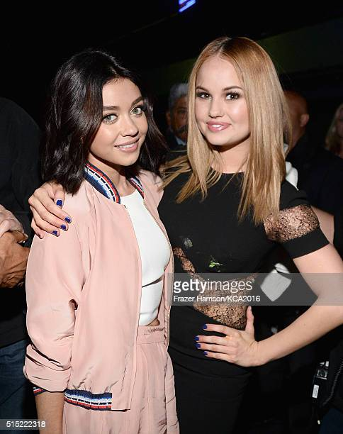 Actresses Sarah Hyland and Debby Ryan attend Nickelodeon's 2016 Kids' Choice Awards at The Forum on March 12 2016 in Inglewood California
