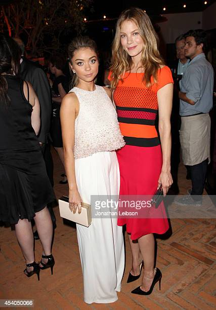 Actresses Sarah Hyland and Michelle Monaghan attend Variety and Women in Film Emmy Nominee Celebration powered by Samsung Galaxy on August 23 2014 in...
