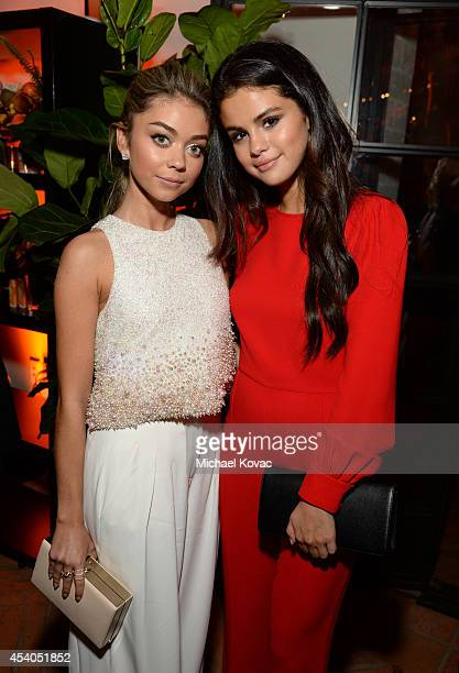 Actresses Sarah Hyland and Selena Gomez attend Variety and Women in Film Emmy Nominee Celebration powered by Samsung Galaxy on August 23 2014 in West...
