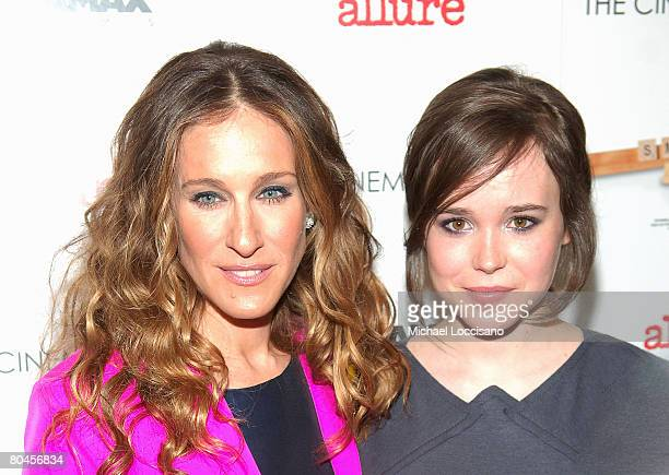 """Actresses Sarah Jessica Parker attend a screening of """"Smart People"""", hosted by The Cinema Society and Linda Wells, at Landmark Sunshine Theater in..."""