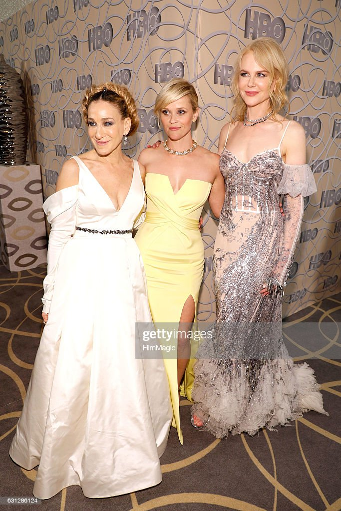 Actresses Sarah Jessica Parker, Reese Witherspoon and Nicole Kidman attend HBO's Official Golden Globe Awards After Party at Circa 55 Restaurant on January 8, 2017 in Beverly Hills, California.