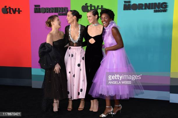 Actresses Sarah Jones Jodi Balfour Shantel VanSanten and Krys Marshall arrive for Apples The Morning Show global premiere at Lincoln Center David...