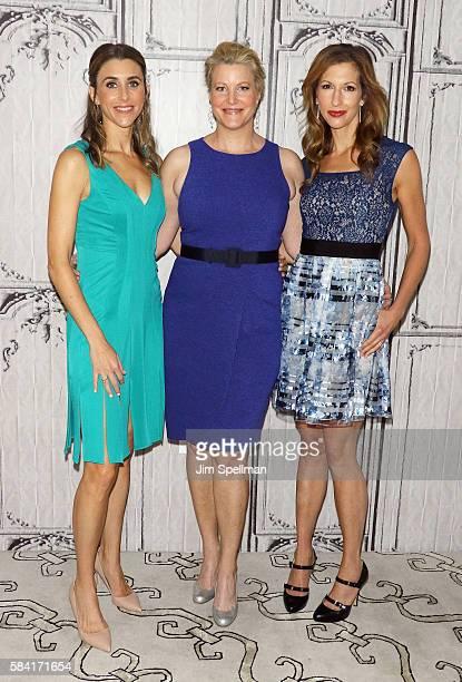 Actresses Sarah Megan Thomas Anna Gunn and Alysia Reiner attend AOL Build Presents Meera Menon Anna Gunn Sarah Megan Thomas Alysia Reiner and Amy Fox...