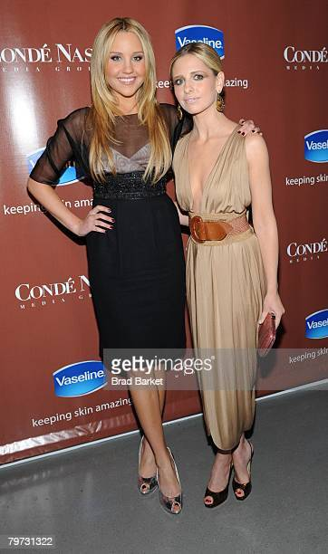 """Actresses Sarah Michelle Gellar and Amanda Bynes attend the Vaseline and Conde Nast Media Group """"Skin is Amazing"""" exhibit at The Glass House in the..."""