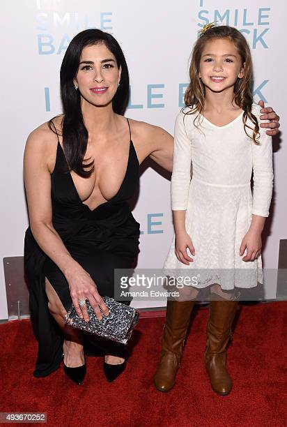Actresses Sarah Silverman and Shayne Coleman arrive at the premiere of Broad Green Pictures' 'I Smile Back' at ArcLight Cinemas on October 21 2015 in...