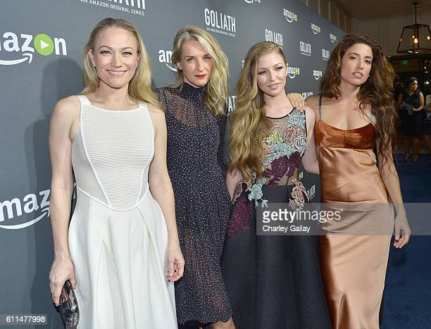 Actresses Sarah Wynter Ever Carradine Diana Hopper and Tania Raymonde attend the Amazon red carpet premiere screening of original drama series...
