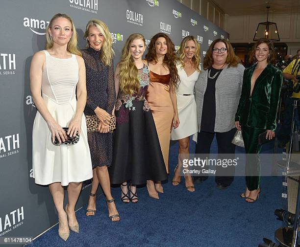 Actresses Sarah Wynter Ever Carradine Diana Hopper Tania Raymonde Maria Bello Julie Brister and Olivia Thirlby attend the Amazon red carpet premiere...