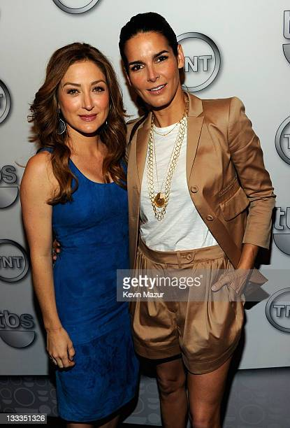 Actresses Sasha Alexander and Angie Harmon attend the TEN Upfront 2011 at Hammerstein Ballroom on May 18 2011 in New York City 21147_005_KM_0328JPG