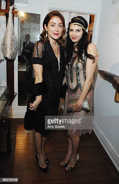 Actresses Sasha Alexander and Shiva Rose at the K Brunini Jewelry RoseArk Viewing Party at a private residence on March 19 2009 in West Hollywood...
