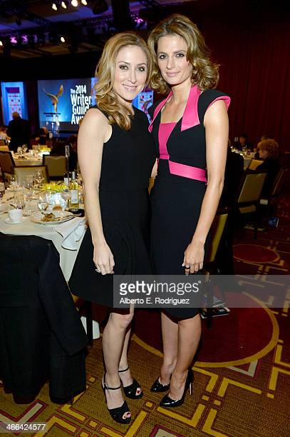 Actresses Sasha Alexander and Stana Katic attend the 2014 Writers Guild Awards LA Ceremony at JW Marriott at LA Live on February 1 2014 in Los...
