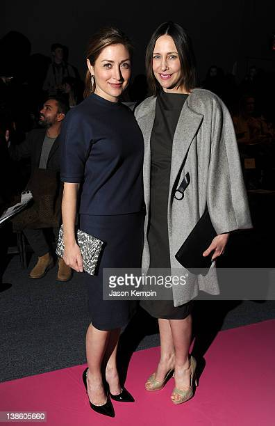 Actresses Sasha Alexander and Vera Farmiga attend the Chadwick Bell Fall 2012 fashion show during MercedesBenz Fashion at The Studio at Lincoln...