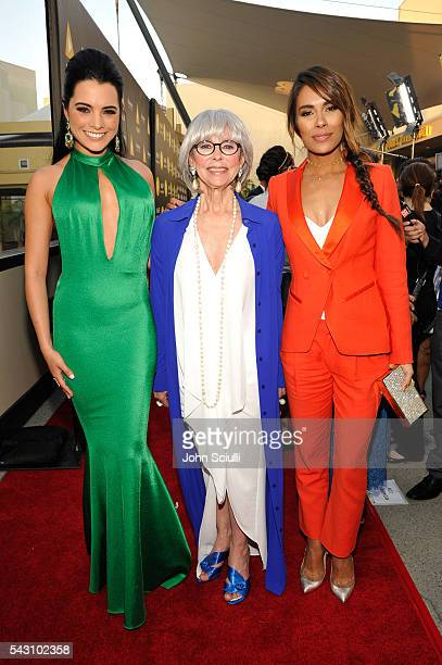 Actresses Scarlet Gruber Rita Moreno and Daniella Alonso attend the NALIP 2016 Latino Media Awards at Dolby Theatre on June 25 2016 in Hollywood...