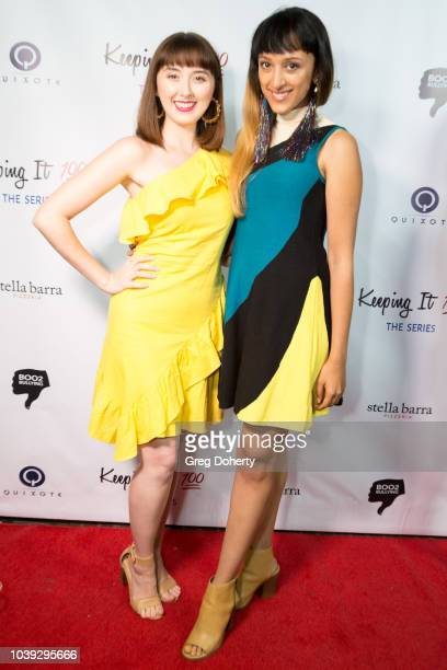 Actresses Scarlet Sheppard and Monisha Dixit attends the Keeping It 100 The Series Premiere And Knock Out Abuse West on September 23 2018 at Bar...
