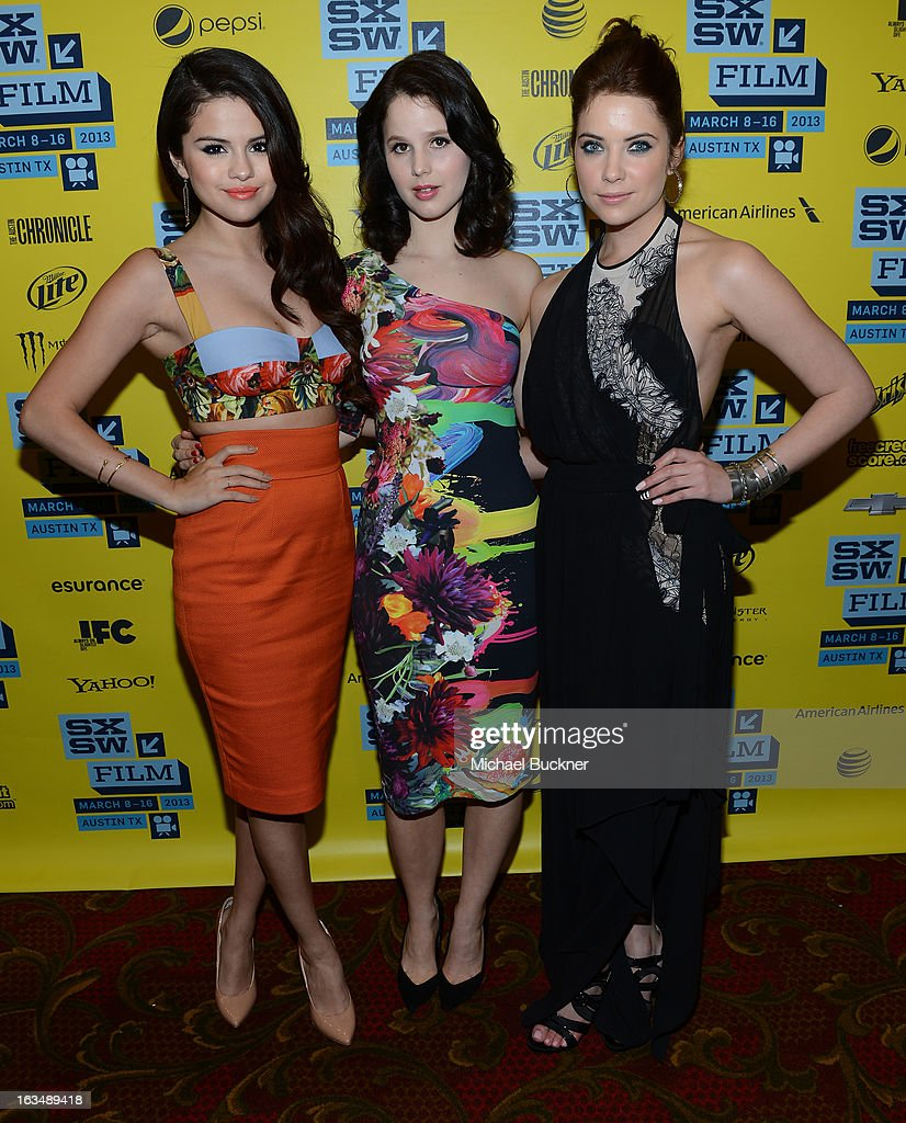 Actresses Selena Gomez, Rachel Korine and Ashley Benson attend the green room for 'Spring Breakers' during the 2013 SXSW Music, Film + Interactive Festival' at the Paramount Theatre on March 10, 2013 in Austin, Texas.