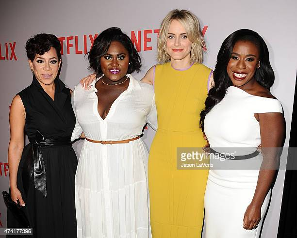 Actresses Selenis Leyva Danielle Brooks Taylor Schilling and Uzo Aduba attend Netflix's 'Orange Is The New Black' For Your Consideration screening...