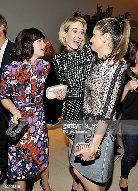 Actresses Selma Blair Sarah Paulson and Amanda Peet all wearing Bottega Veneta attend the Hammer Museum Gala in Garden sponsored by Bottega Veneta at...