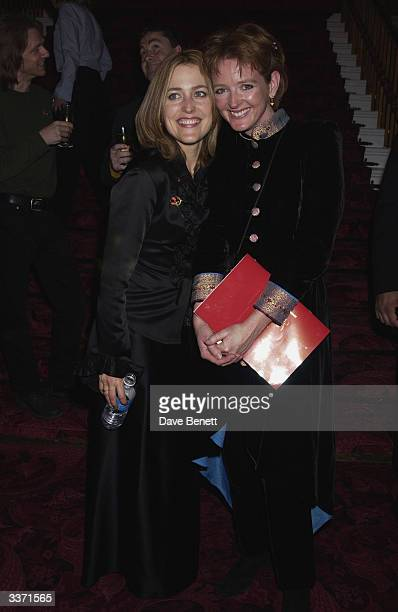 Actresses Serena Gordon and Gillian Anderson at the UK Neurofibromatosis Association 20th Anniversary Gala Concert held at the Theatre Royal on 12th...