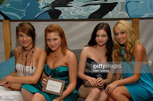 Actresses Shailene Woodley Renee Olstead India Eisley and Megan Park attend the Mattel Celebrity Retreat produced by Backstage Creations at Teen...