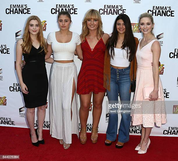 Actresses Shanna Strong Lia Marie Johnson Christina Robinson Amber Montana and Greer Grammer attend a screening of Sony Pictures Home Entertainment's...