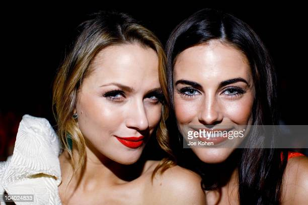 Actresses Shantel VanSanten and Jessica Lowndes attend the Lela Rose Spring 2011 fashion show during MercedesBenz Fashion Week at The Studio at...