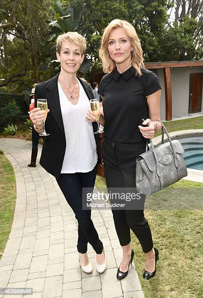 Actresses Shauna Galligan and Tricia Helfer attend the Vanity Fair Campaign Hollywood Alfa Romeo Ride and Drive luncheon at The Polsky Residence on...