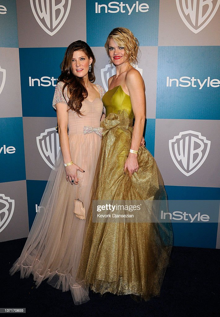 Actresses Shawnee Smith (L) and Missi Pyle arrive at 13th Annual Warner Bros. And InStyle Golden Globe Awards After Party at The Beverly Hilton hotel on January 15, 2012 in Beverly Hills, California.