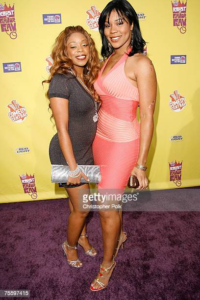 Actresses Shay Johnson and Deelishis arrives to The Comedy Central Roast of Flavor Flav at Warner Bros Studios on July 22 2007 in Burbank California
