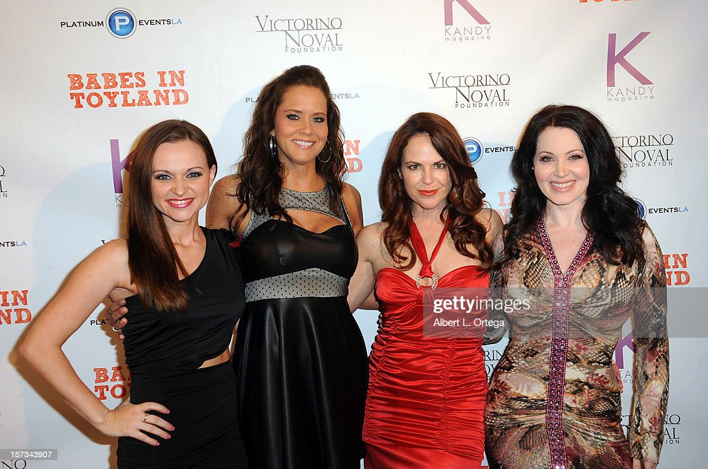 Actresses Shee' Dueitt, Courtney Moore, Lisa Cash and Sara Barrett arrive for the 5th Annual Babes In Toyland Charity Toy Drive to benefit Los Angeles County Sheriff's Department Toy Drive held at Confidential on December 1, 2012 in Beverly Hills, California.