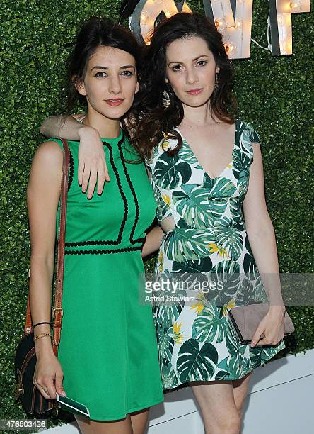 Actresses Sheila Vand and Aleksa Palladino attend the Vanity Fair And GUESS Summer Soiree held at Jimmy At The James Hotel on June 9 2015 in New York...