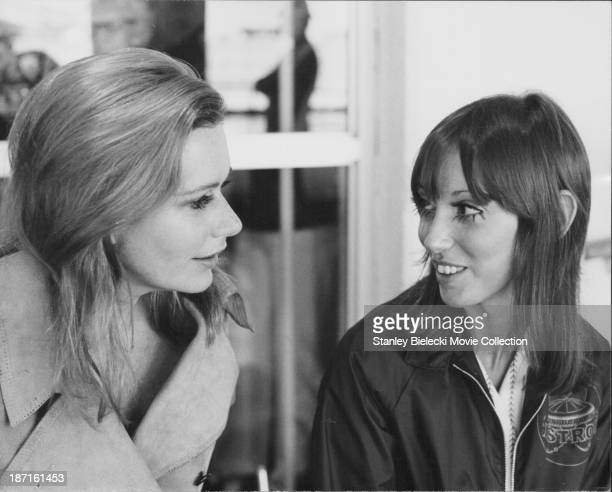 Actresses Shelley Duvall and Sally Kellerman in a scene from the movie 'Brewster McCloud', 1970.