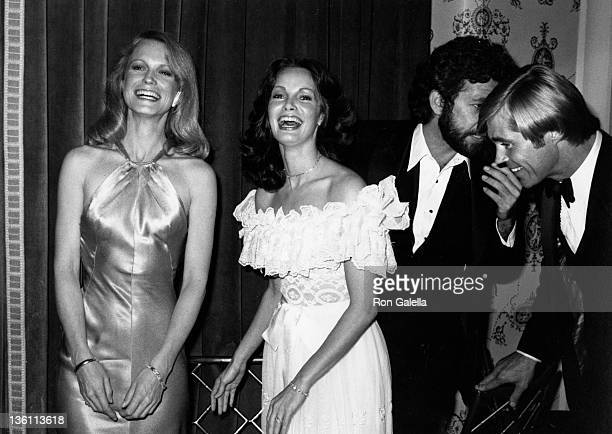 Actresses Shelley Hack and Jackie Smith and actors John Leone and Dennis Cole attends Love Boat Honors Helen Hayes on February 2 1980 at the Beverly...