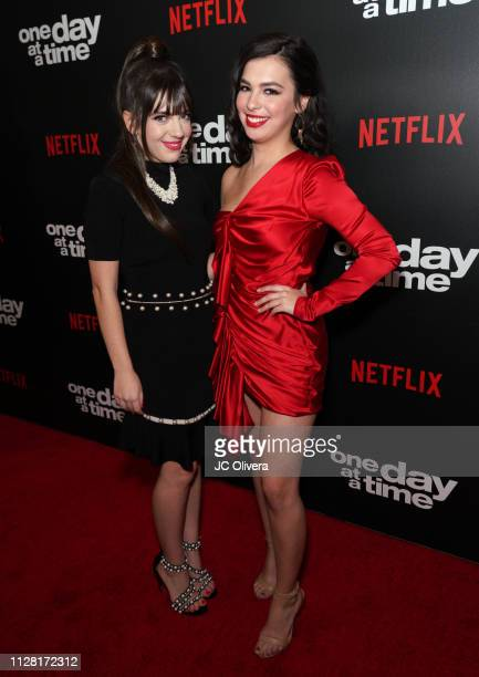 Actresses Sheridan Pierce and Isabella Gomez attend the premiere of Netflix's 'One Day At A Time' Season 3 at Regal Cinemas LA LIVE Stadium 14 on...