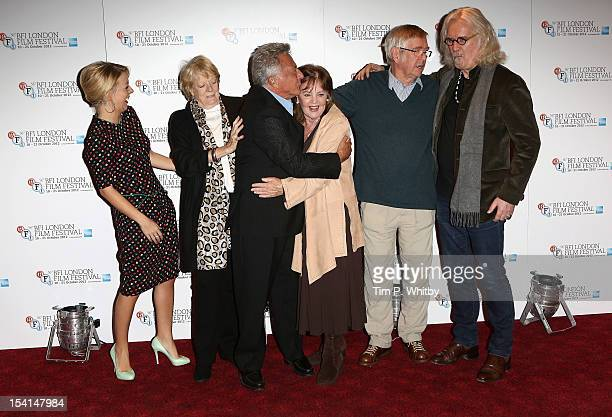 Actresses Sheridan Smith Maggie Smith director Dustin Hoffman actress Pauline Collins and actors Tom Courtenay and Billy Connolly attend the Quartet...