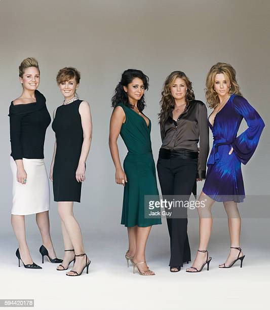 Actresses Sherry Stringfield Laura Innes Parminder Nagra Maura Tierney and Linda Cardellini are photographed in 2004