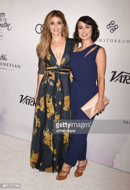 Actresses Shiri Appleby and Constance Zimmer arrive at the Variety's Power Of Women Los Angeles at the Beverly Wilshire Four Seasons Hotel on October...