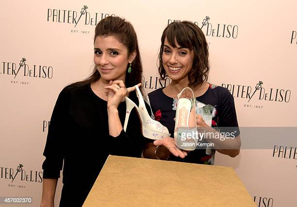 Actresses Shiri Appleby and Constance Zimmer attend the 2014 Variety Power of Women presented by Lifetime at Beverly Wilshire Four Seasons Hotel on...