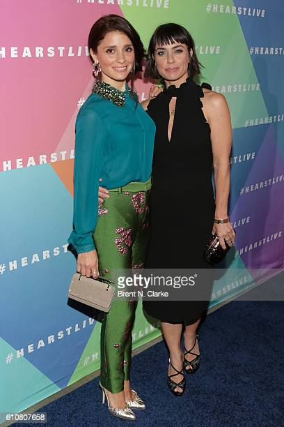 Actresses Shiri Appleby and Constance Zimmer attend the HearstLive launch event held at Hearst Tower on September 27 2016 in New York City