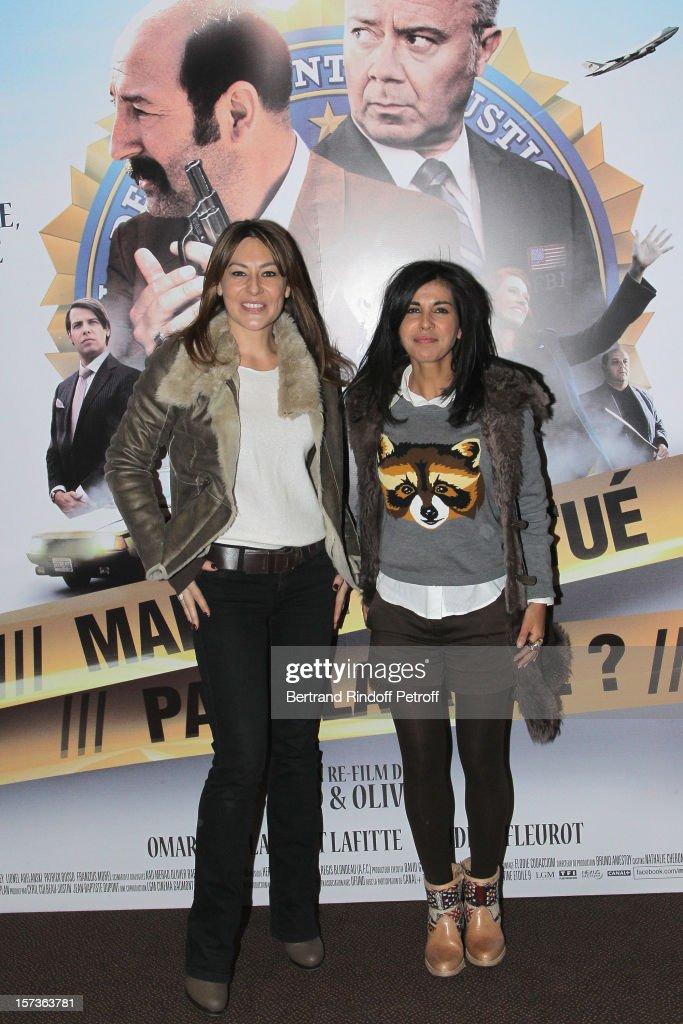 Actresses Shirley Bousquet (L) and Reem Kherici attend the Paris Premiere of the movie 'Mais Qui A Re Tue Pamela Rose', at Cinema Gaumont Marignan on December 2, 2012 in Paris, France.