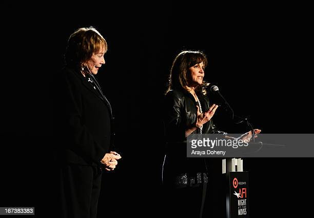 Actresses Shirley MacLaine and Sally Field present Steel Magnolias at Target Presents AFI's Night at the Movies at ArcLight Cinemas on April 24 2013...