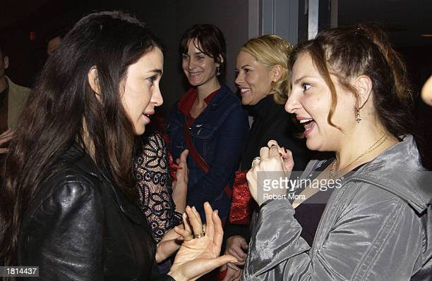Actresses Shiva Rose and Kathy Najimy attend VDay LA 2003 benefitting VDay and The Los Angeles Commission on Assaults Against Women at the Directors...