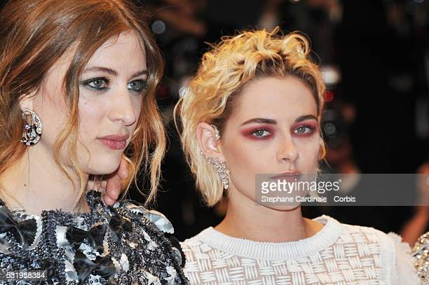 Actresses Sigrid Bouaziz and Kristen Stewart attend the Personal Shopper premiere during the 69th annual Cannes Film Festival at the Palais des...