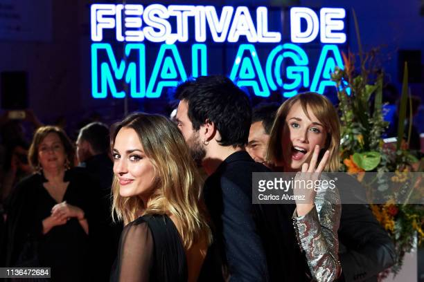 Actresses Silvia Alonso and Ingrid GarciaJonsson attend 'Malaga Sur' 2019 award at the Cervantes Theater on March 17 2019 in Malaga Spain