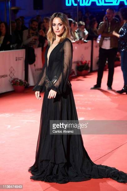 Actresses Silvia Alonso attends 'Malaga Sur' 2019 award at the Cervantes Theater on March 17 2019 in Malaga Spain