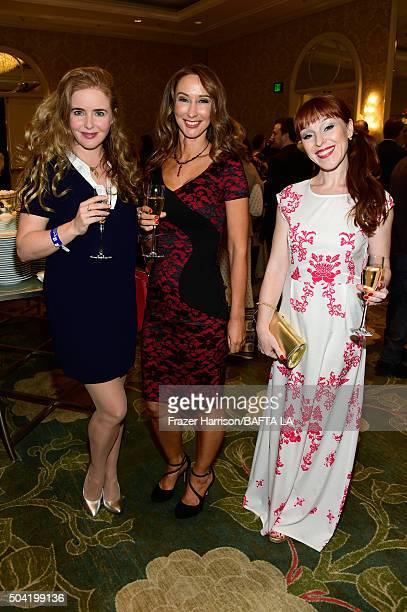 Actresses Siobhan Flynn Nadia Jordan and Ruth Connell attend the BAFTA Los Angeles Awards Season Tea at Four Seasons Hotel Los Angeles at Beverly...