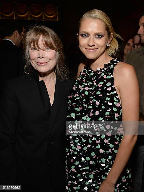 Actresses Sissy Spacek and Teresa Palmer attend the after party for the Los Angeles Premiere Of Broad Green Pictures' Knight Of Cups on March 1 2016...