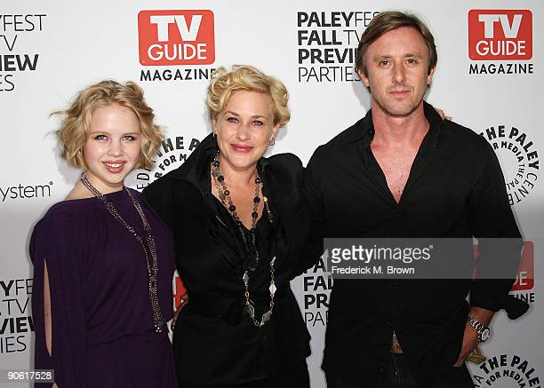 Actresses Sofia Vassilieva and Patricia Arquette and actor Jake Weber of the television show Medium attend the PaleyFest and TV Guide Magazine's CBS...