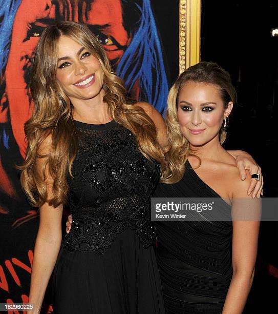 Actresses Sofia Vergara and Alexa Vega arrive at the premiere of Open Road Films' Machete Kills at Regal Cinemas LA Live on October 2 2013 in Los...