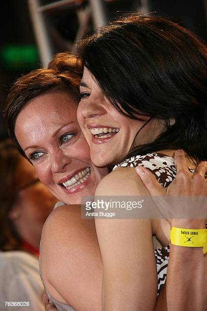 Actresses Sonja Kirchberger and Jasmin Tabatabai attend the First Steps Award at the Theater am Potsdamer Platz August 28 2007 in Berlin Germany